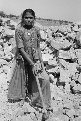 stone quarry worker, india