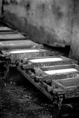 ingots with molten steel, smith foundry